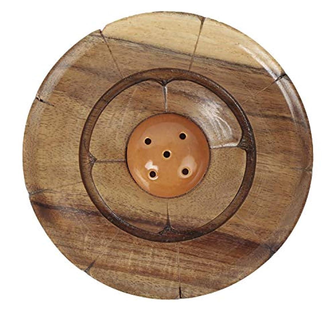 調査戻るステレオタイプAuroshikha Wooden Incense Stick Holder