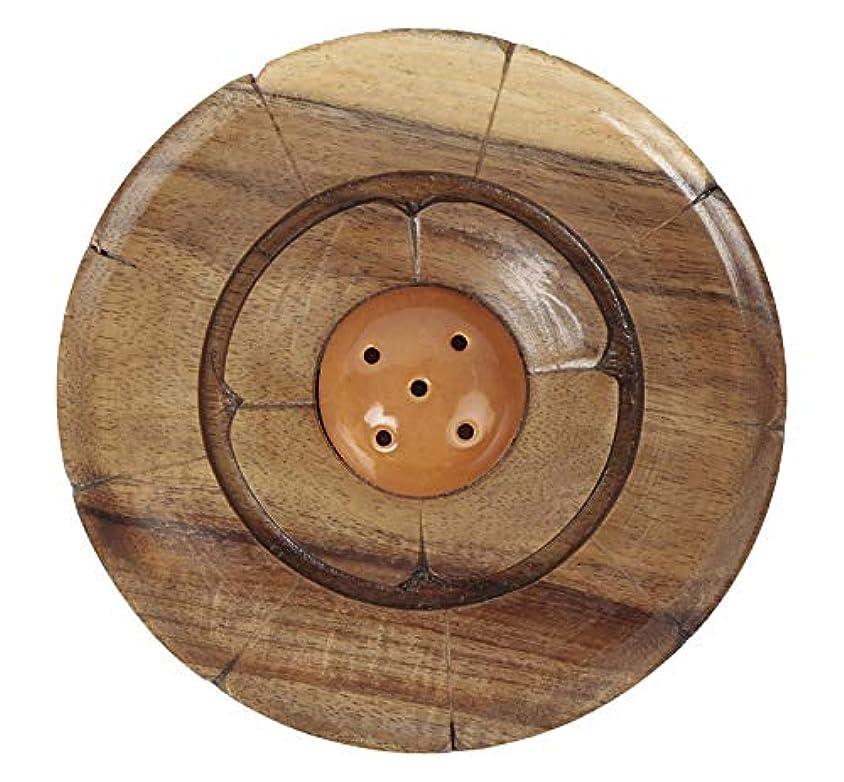 休日に人気つぶすAuroshikha Wooden Incense Stick Holder