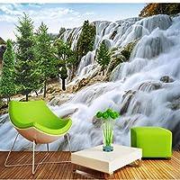 LJJLM カスタマイズされた大規模な壁画フロー水富3D壁画風景の背景の壁が織り壁紙-420X280cm