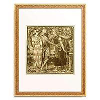 ダンテ・ゲイブリエル・ロセッティ Dante Gabriel Rossetti 「Joseph Accused before Potiphar,」 額装アート作品