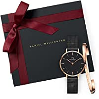Gift Set Classic Petite Ashfield Black Watch  28mm + Cuff RG Small