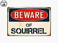 """Beware of Squirrel 8"""" x 12""""ヴィンテージレトロアルミメタルプレートギフトのSignサインvs401ホーム/Man Cave Decor"""