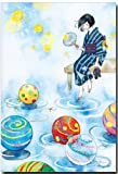 水彩イラストポストカード 「水風船」 夏のイラスト暑中見舞い 和道楽
