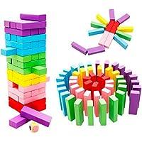 QXMEI おもちゃのビルディングブロック おもちゃ 色ジェンガ デジタルビルディングブロック 子供用パズル おもちゃ