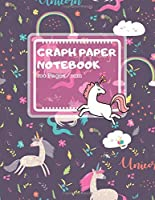 "Graph Paper Notebook: Cute Unicorn Pattern Design - Math Notebook for Kids, Girls (Mathematics brochure) - 100 Pages, 8.5"" × 11"""
