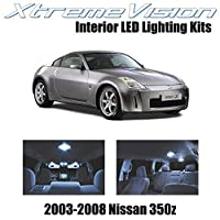 XtremeVision Nissan 350Z 2003-2008 (5 Pieces) Cool White Premium Interior LED Kit Package + Installation Tool [並行輸入品]