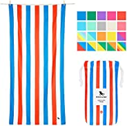 Quick Dry Beach Towel Travel - Pool Side Parties, Large (160x80cm, 63x31) - Compact Towel for Swim in Multi Co