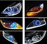 HMT 【エイチエムティー】車汎用LED シリコンチューブライトシリコン LEDテープ 均一発光 シリコンチューブLEDテープ 側面LEDテープ ホワイト/キイロウインカールームランプ 30CM 2本セット