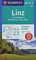 Linz und Umgebung, Muehlviertel, Wels, Steyr 1:50 000: 2 Wanderkarten 1:50000 im Set inklusive Karte zur offline Verwendung in der KOMPASS-App. Fahrradfahren. Langlaufen.