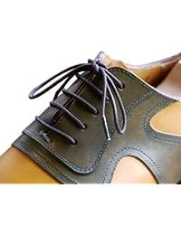 (クツヒモドットコム)靴ひも.com ポリエステル靴ひも(濃茶・丸ひも・2mm幅)80cm・90cm・100cm
