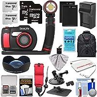 SeaLife DC2000 HD 水中デジタルカメラ Sea Dragon 3000 オートライトセット & 0.75x 広角レンズ + (2) 64GBカード + バッテリー & 充電器 + マウント + バックパックキット