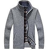 【 Smaids×Smile 】 メンズ ニット セーター ジャケット ハイネック リブ スタンドカラー 無地 襟