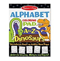 Melissa & Doug Dinosaurs Alphabet Coloring Pad a to Z Toy Multicolor [並行輸入品]