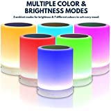 Night Light Table Lamp with Portable Bluetooth Speaker Touch Control Bedside Lamp Color LED Outdoor Lamp, MP3 Muisc Player Hands-free Speakerphone