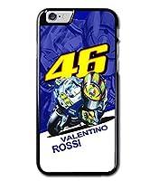 46 Valentino Rossi YAMAHA YZR-M1 hangoff デフォルメ スマホケース iPhone カバー (iPhoneX) [並行輸入品]