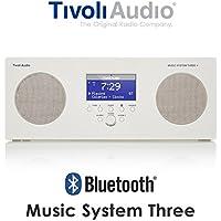 Tivoli Audio チボリオーディオ Music System Three (ホワイト) MSY3-1759-JP <AM/FM/クロック ラジオ・ステレオ・スピーカー>