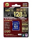 HIDISC 4K/2K撮影対応 SDXCメモリカード 128GB Class10 UHS-I Class3 HDSDX128GCL10UI3JP