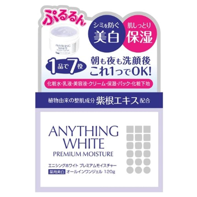 乱闘反発に対してエニシングホワイト プレミアムモイスチャー 120g