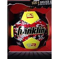 Franklinサイズ4サッカーボールレッドとイエローデジタル