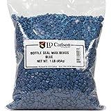 Bottle Seal Wax Beads, Blue 1 lb.