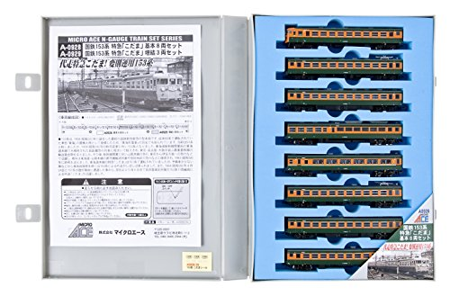 Nゲージ A0928 国鉄153系 特急「こだま」 基本8両セット