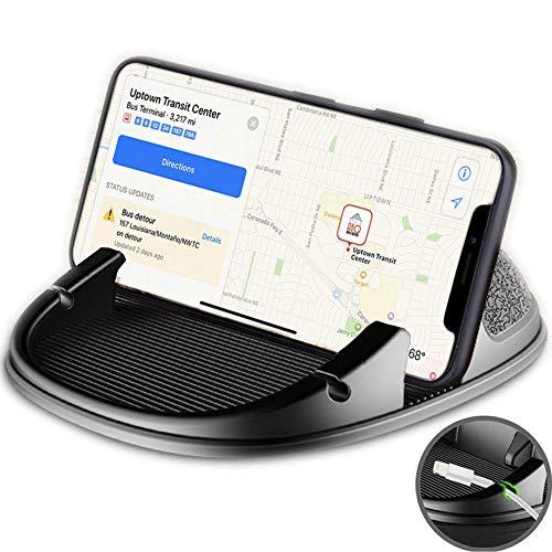 スマホ車載ホルダー シリコン製 車載ホルダー GPS用クリップホルダー 滑り止め スマートフォン&タブレット用スマホホルダー ダッシュボード・卓上置き簡単・水洗い可能 iPhone Android GPS ナビ対応