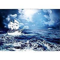 Ljjlm カスタム写真3D壁紙壁画不織布海の景色セーリング3D装飾絵画3D壁壁画壁紙For 3D-420X280cm