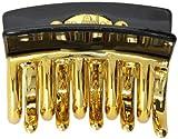 [キャラバン] Caravan ヘアアクセサリー ゴールド バンスクリップ アレックス デコレーション ブラック フランス製 1216