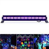 TECKEPIC ブラックライト 12LED 紫外線ライト ステージライト 単色ビームUVライト ポータブルサイズ クリスマス/ディスコ / 舞台 / 演出 / 照明 /バー/パーティー (12LED)