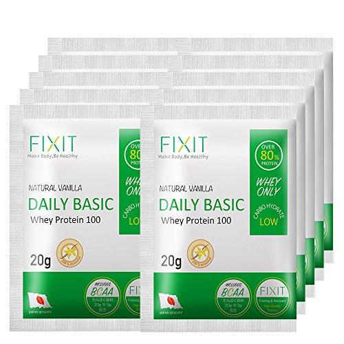 FIXIT プロテイン ホエイ プロテイン DAILY BASIC 20g × 10パック (バニラ)
