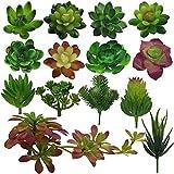 14種類の人工多肉植物 人工観葉植物 光触媒 ポットなし 造花 14本 インテリアグリーン屋外装飾