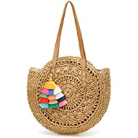 Molodo Women Summer Straw Beach Large Woven Bags Purse Tote Handbags