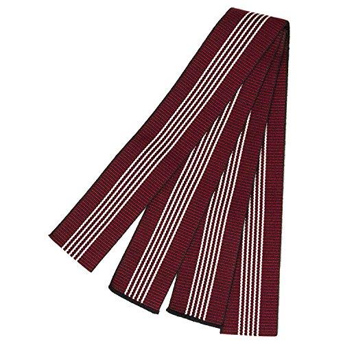 (キョウエツ) KYOETSU 日本製 丹前帯 平帯 旅館浴衣帯 男性 (赤)
