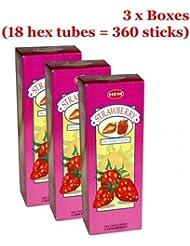 Hemストロベリー香、3ボックス – (360 Sticksバルクper order)