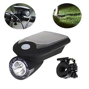 自転車 LED ソーラー 充電 ライト ( 防水 高輝度 240 LM ) 1000 mAh アウトドア や 防災 にも ( Camel Charger ) (ブラック)