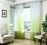WPKIRA レースカーテン 透けない UVカット薄手のカーテン おしゃれ 自然に 換気 半遮光 窓 部屋 寝室 ドア 洗濯可能 1組2枚入り 幅100cm×丈178cm