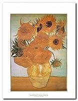 Vincent Van Goghひまわり壁装飾アートプリントポスター( 22x 28)