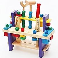 HappyHome 知育玩具 木のおもちゃ 木製 玩具 大工さんセット (ツールボックスタイプ)