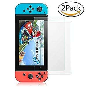 Nintendo Switch ガラスフィルム【2枚入り】TechRise 液晶保護フィルム 9H硬度 透明性99% 気泡ゼロ 指紋防止