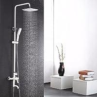 304ステンレスシャワーセットセットのバスルームシャワー機噴頭磨砂ライト,白