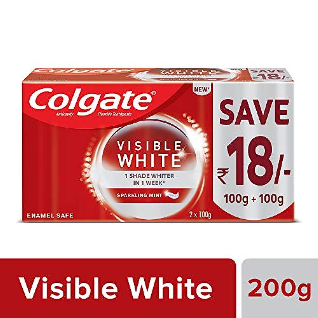 セーブ冗談でColgate Visible White Dazzling White Toothpaste, Sparkling Mint - 200gm (Pack of 2)