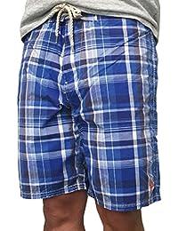 (ポロ ラルフローレン) Polo Ralph Lauren 《 9 1/2 インチ ブルー チェック サイドポケット ポニー刺繍 スイムウエア 水着 メンズ : 9 1/2 Inch Shelter Island Trunk...