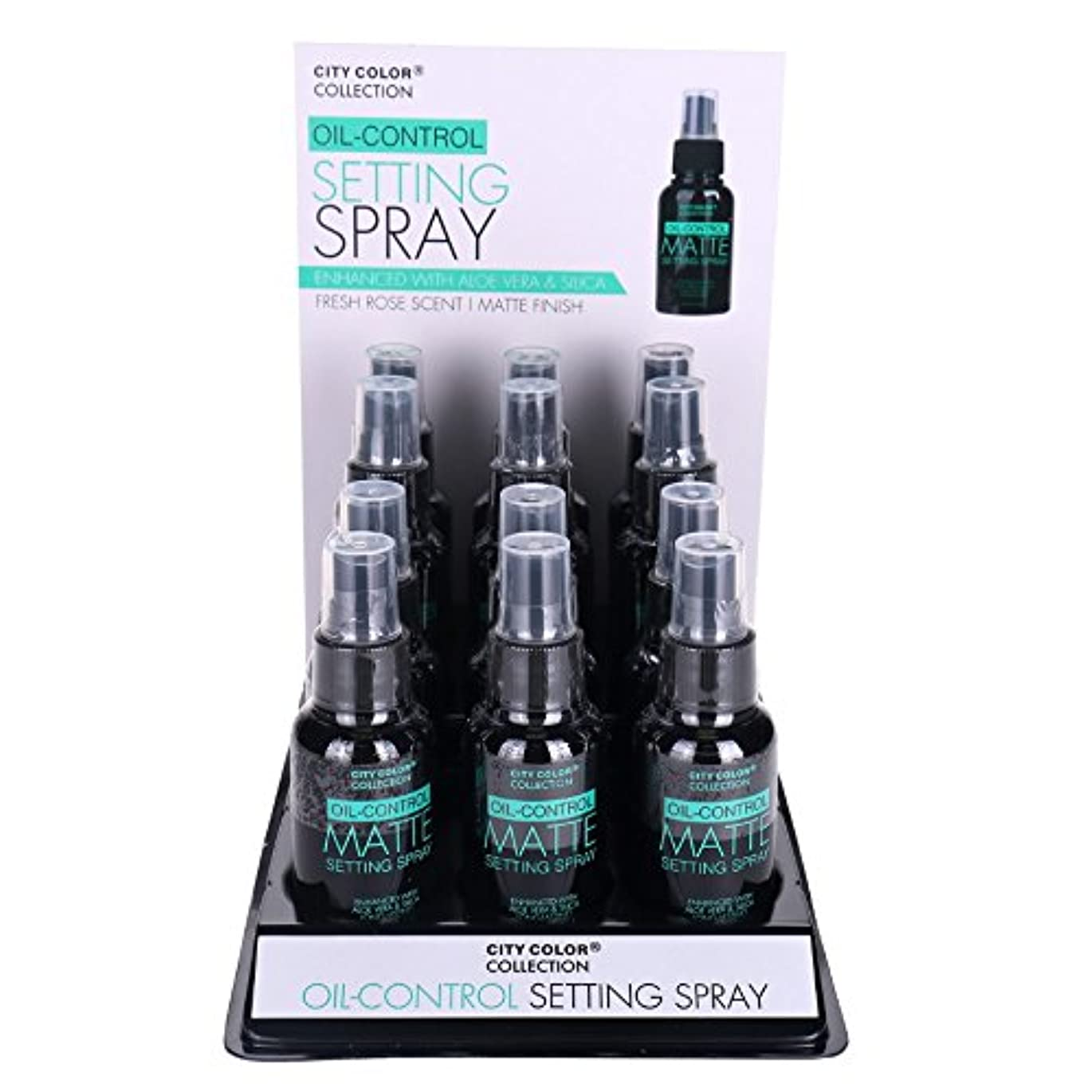 CITY COLOR Oil-Control Matte Setting Spray Display Case 12 Pieces (並行輸入品)