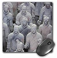 3drose LLC 8x 8x 0.25インチマウスパッド、Army of the Terracotta Warriors、xian、中国Photo by Rhonda Albom (MP 164770_ 1)