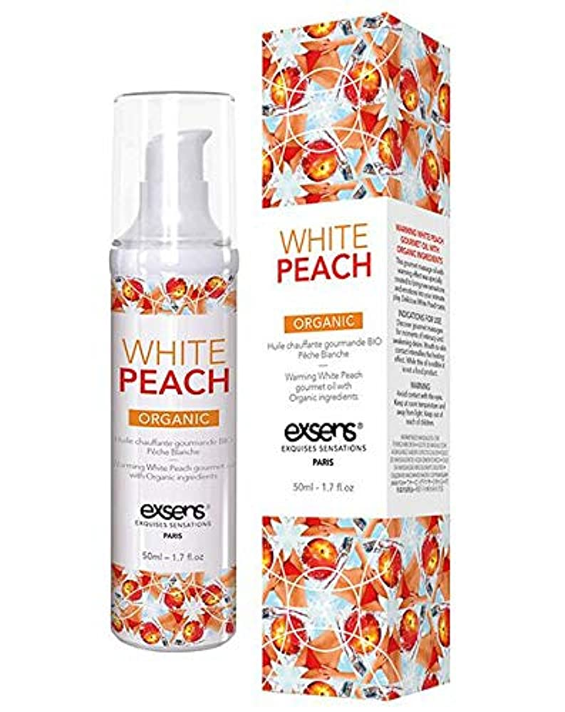 評価する思慮深い使役白桃の香りexsens オーガニックグルメ マッサージオイル ホワイトピーチ