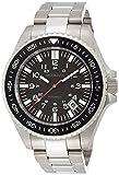 Brookiana腕時計日本製自動巻きムーブメントnh35搭載カプセル光日付表示シルバー×ブラックbaa1801-svbkメンズ