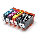 CANON / キヤノン キャノン 純正互換インクカートリッジ インクタンク BCI325 (BK ブラック) + BCI326 (BK ブラック / C シアン/ M マゼンダ / Y イエロー) 5色セット 残量表示機能対応 ICチップ付 安心保証1年 eBARONGオリジナル