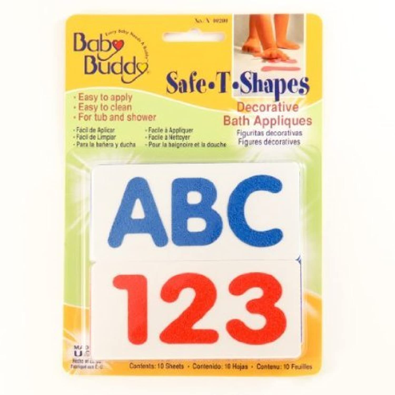 Baby Buddy BB Safe-T-Shapes Bath Appliques - ABC123 Case Pack 18 おもちゃ (並行輸入)