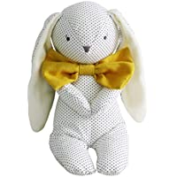 Alimrose Roberto Floppy Bunny - 25cm Navy Spot and Bowtie, One Size