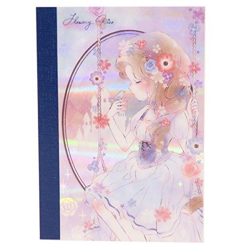 [해외]FLOWERLY KISS 메모장 오로라 주 | 2017AW 카미 오 재팬 문구 귀여운 굿즈 판매/FLOWERLY KISS [Notepad] Aurora Memo | 2017AW Camio Japan Stationery Cute goods mail order